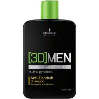 Шампунь против перхоти [3D]Men Anti-Dandruff Shampoo Schwarzkopf, 250 мл